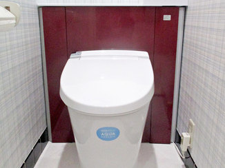 小工事 予算を抑えながらも掃除がしやすいスッキリとしたトイレ