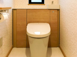 トイレリフォーム 使い勝手が良くなった開放感のある明るいトイレ