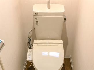 トイレリフォーム 明るく広々とした空間に仕上がったトイレ